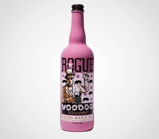 There is a Beer that Tastes Like Bacon and Maple Syrup | Geekosystem #beer #design #rouge #maple #bacon #package