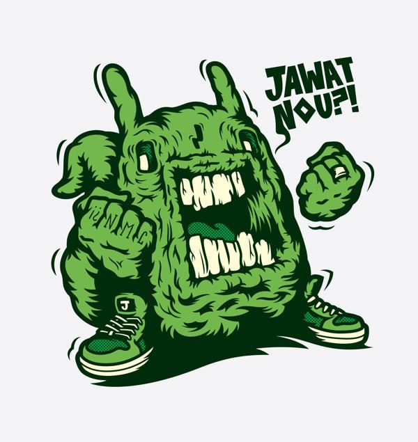 Jawat Noup! #monster #vector #green