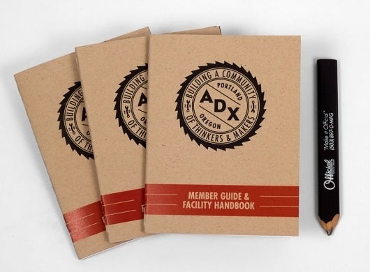 ADX Portland / Branding, Identity, & Signage Design / The Official Manufacturing Company #identity #handbook #builders #saw