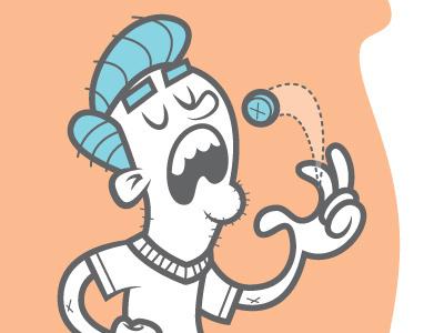 Pill_dribbbled #vector #design #vintage #cartoon #character