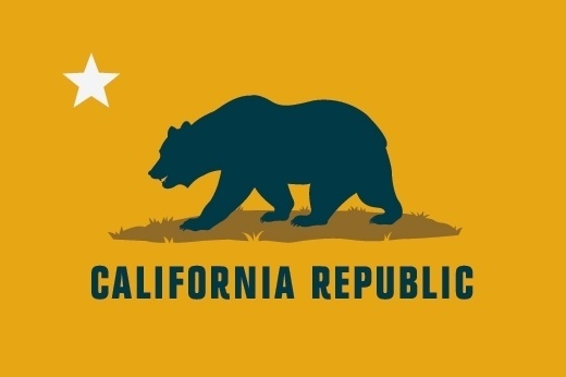 366. State Flag Revisions: California. Part2. - Graphicology Blog - Graphicology #states #flag #yellow #design #united #identity #state #blue #bear #california