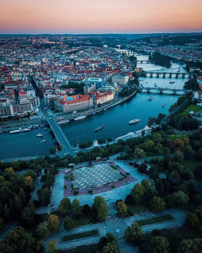 Prague From Above: Travel Drone Photography by Alan Brutenic