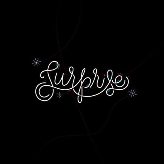 Surprise! by Jordan Lyle #lettering #design #line #vector