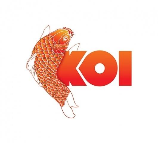 Koi, X-Pro, SWC and UQ 08 on the Behance Network #branding #koi #fish #restaurant #sushi #logo