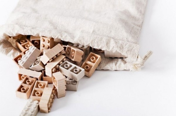 Wooden Lego Bricks #design