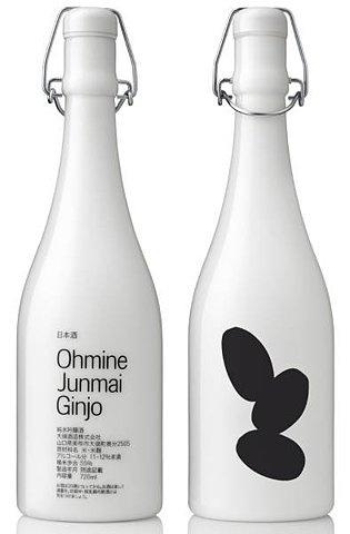 Ohmine Junmai Ginjo | Shiro to Kuro #packaging #minimalist #bottle