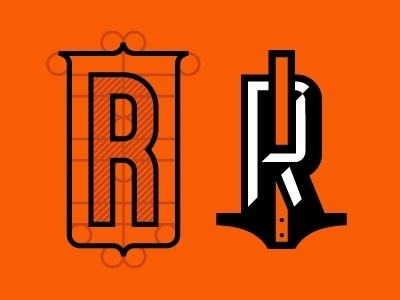 Dribbble - R R by J Fletcher Design #logo #letter #vector #r