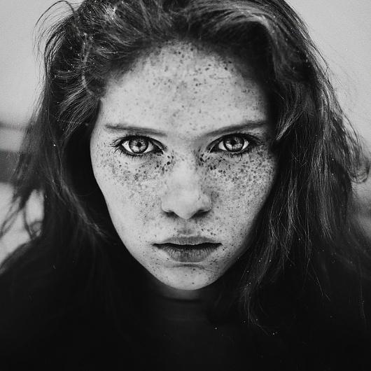 500px / Photo #white #pretty #black #freckles #photography #portrait #beauty