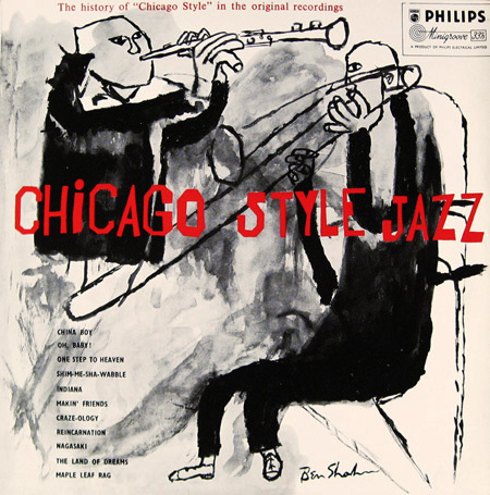 Chicago Style Jazz, Columbia 632 #print #design #graphic #cover #illustration #typography