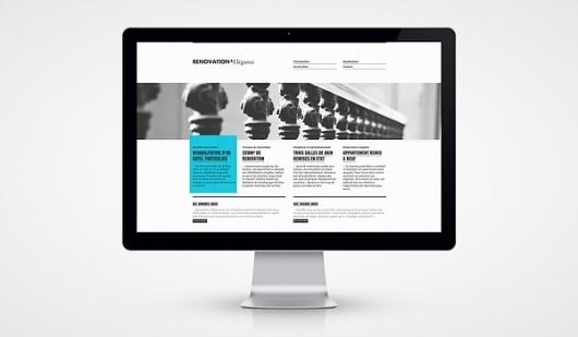 R&E on the Behance Network #white #design #blue #web #grey