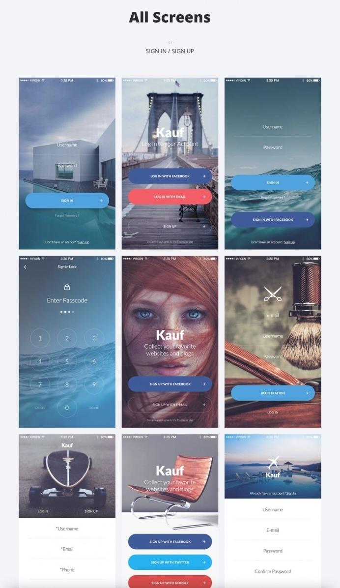 Kauf iOS UI Kit