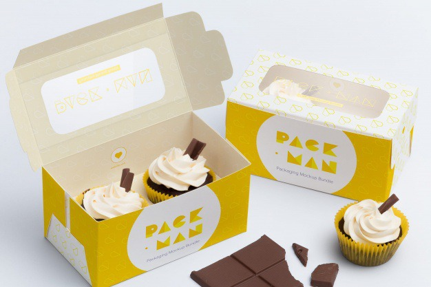 Packaging mock up design Premium Psd. See more inspiration related to Mockup, Design, Template, Box, Packaging, Web, Website, Cupcake, Mock up, Templates, Website template, Boxes, Mockups, Up, Cupcakes, Web template, Realistic, Real, Web templates, Mock ups, Mock and Ups on Freepik.