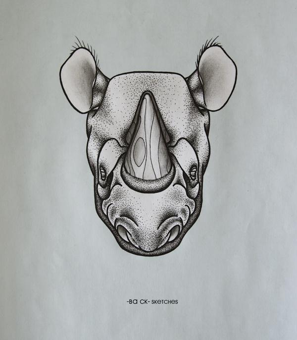 Rhino wood #rhino #ba #ck #dots #wood