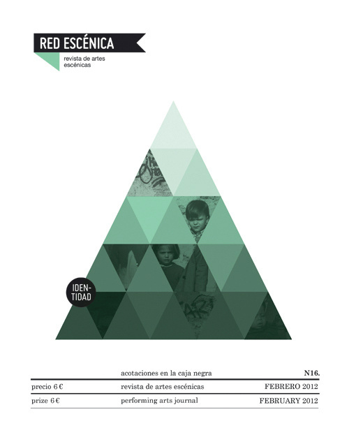 Red Escénica. MAG. New Issues! Casmic Lab / diseño gráfico / graphic design #triangle #poster #green