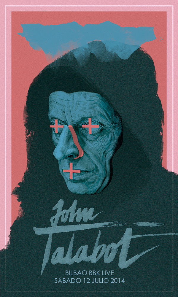 John Talabot // poster for Bilbao BBK Live on Behance #inspiration #illustration #behance #poster