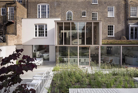 East London House by David Mikhail Architects #brick #wood #architecture #facades