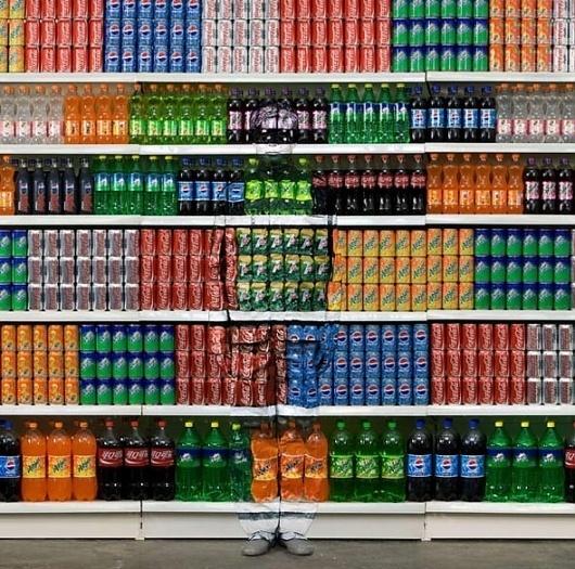 Camouflage Cans by Liu Bolin   Mighty Optical Illusions #liu #bolin