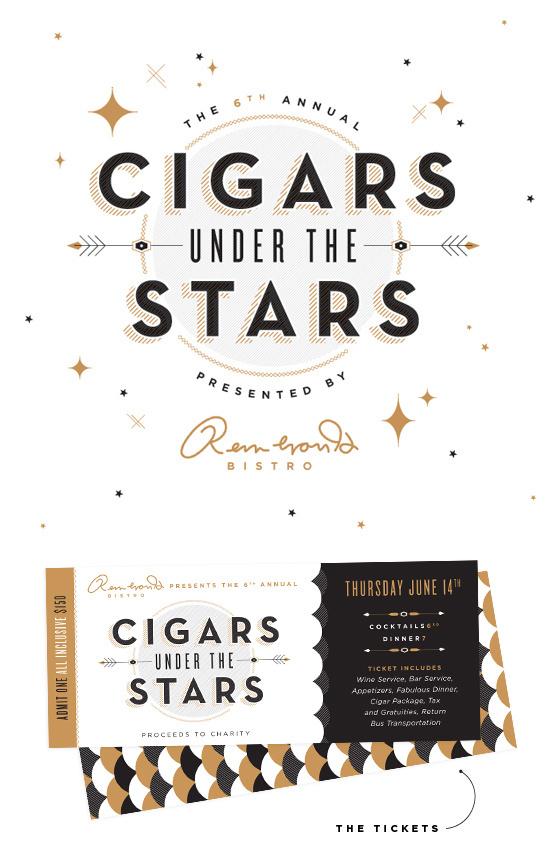 Cigars Under the Stars   Ashley Nicole #inspiration #logo #design #packaging