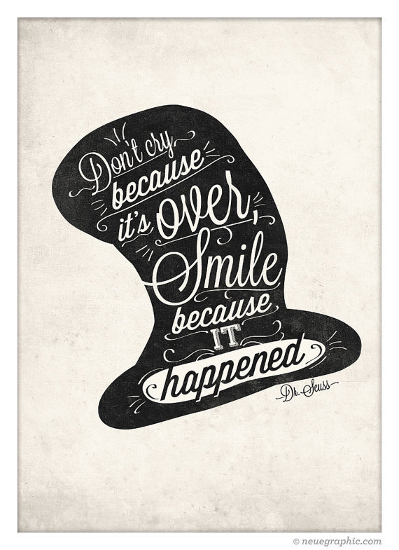 Dr.Seuss Handwriting Style Quote Print by NeueGraphic #quote #print #decor #home #illustration #neuegraphic #art #poster #typography