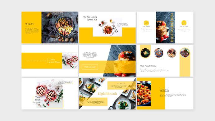 FOOD 1 - presentation templates, POWERPOINT + KEYNOTE on Behance