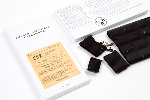 Cardamomo #white #packaging #clean #simple #chocolate #info
