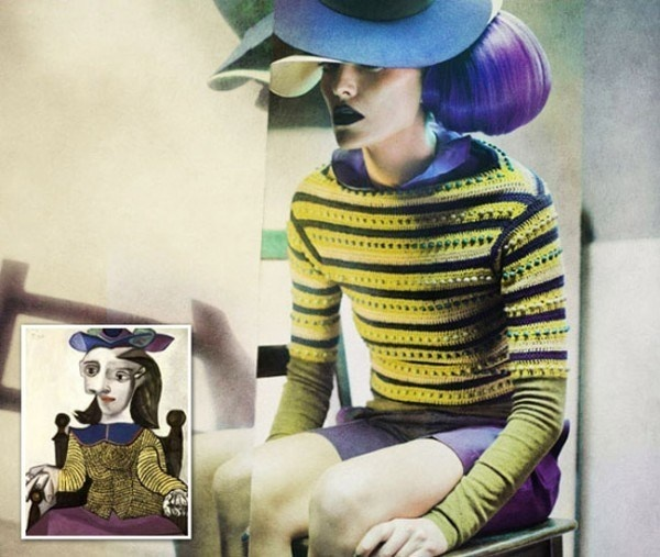 Fashion Photography Inspired by the Works of Pablo Picasso #fashion #picasso #photography #pablo