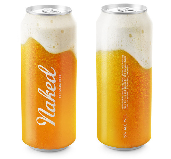 Naked Beer, putting the flavor on can Designed by Timur Salikhov #packaging #beer