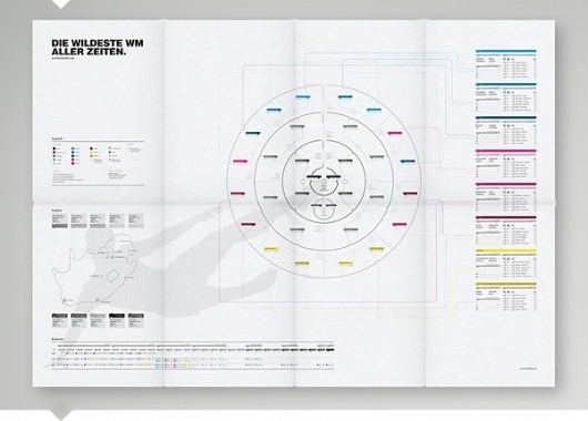 World Cup Schedule on the Behance Network #grid #infographic #white