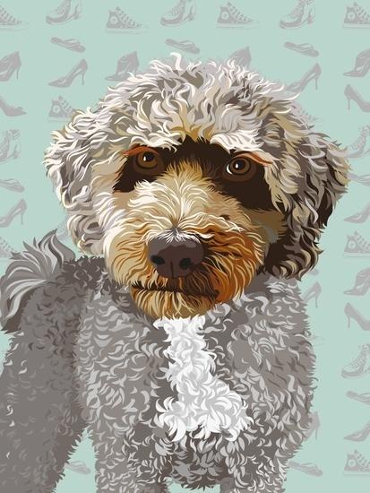 Tess #fellerer #together #illustration #portrait #forever #marge #friends #dog