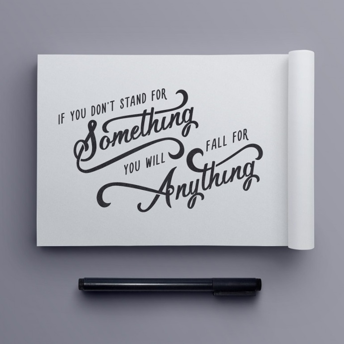 """""""Stand for Something"""" hand drawn typography quote by Jenna Bresnahan"""