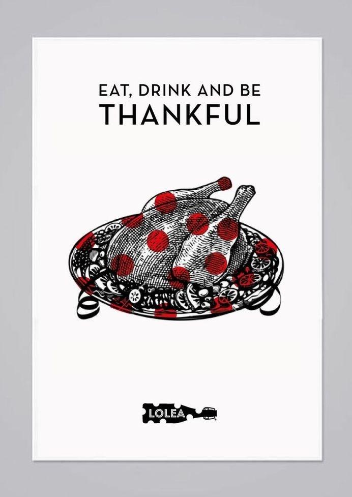 Sangría Lolea x Thanksgiving #sangrãa #thanksgiving #lolea #poster