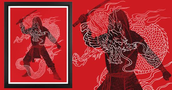 Spread the Love, Earn the 'Bucks! #dragon #white #katana #black #ninja #and