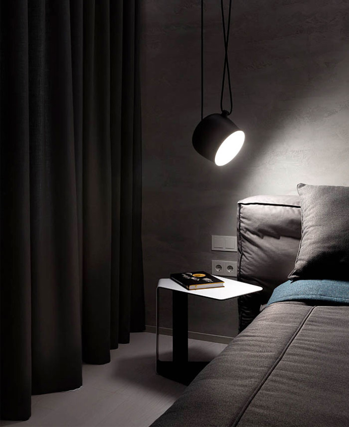 Apartment in Dark Colors by InCube - #decor, #interior, #homedecor,