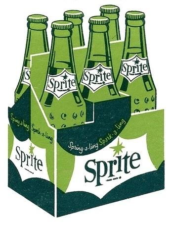 Blogg.: (via Inspiration Folder: Vintage Soda Pop: Old... #sprite #vintage #sodas