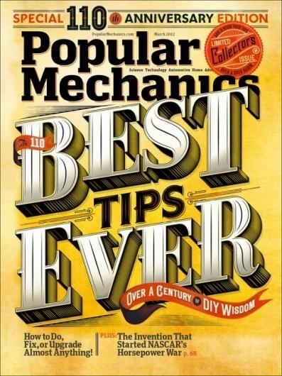 Popular Mechanics (US) - Coverjunkie.com #design #popular #mechanics #publication #type #magazine #typography