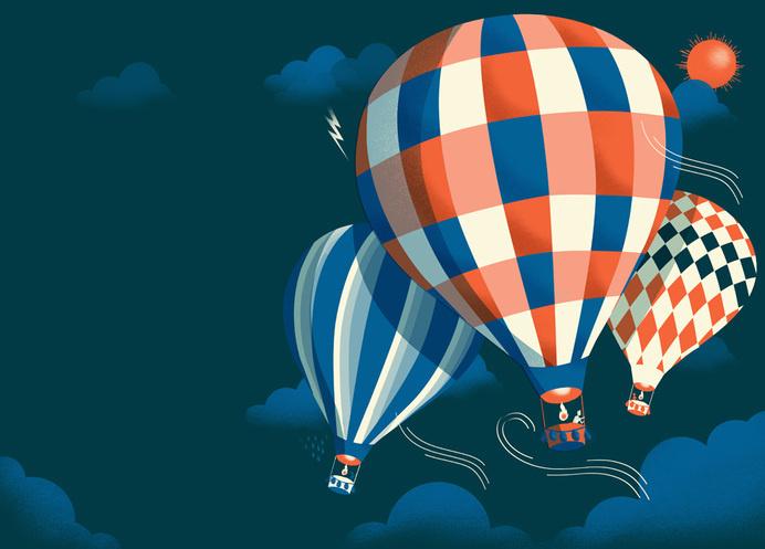 illustration #sky #air #night #balloon #illustration