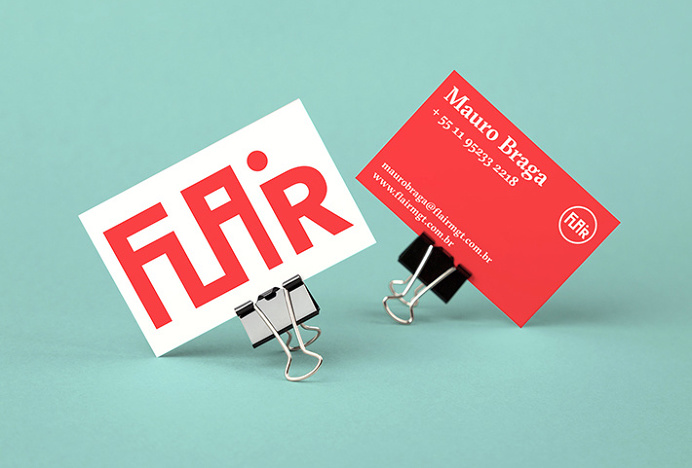 Flair by Gabriel Finotti #branding #stationary #red
