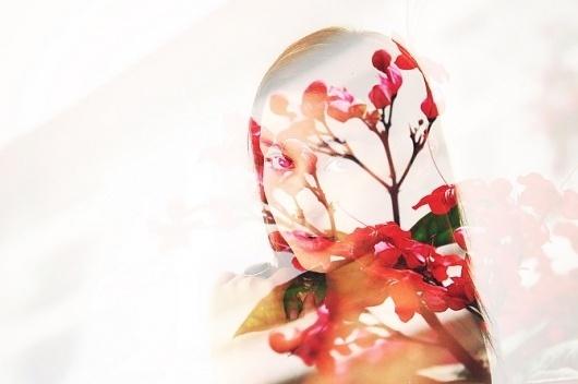 Double Exposures - Andre De Freitas #girl #exposure #photography #double #beautiful #flowers
