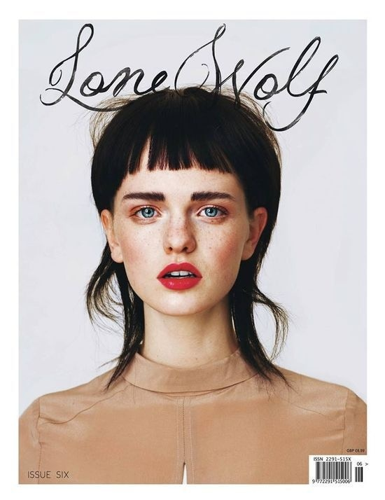 Lone Wolf//issue 6 #typography #cover #magazine #editorial