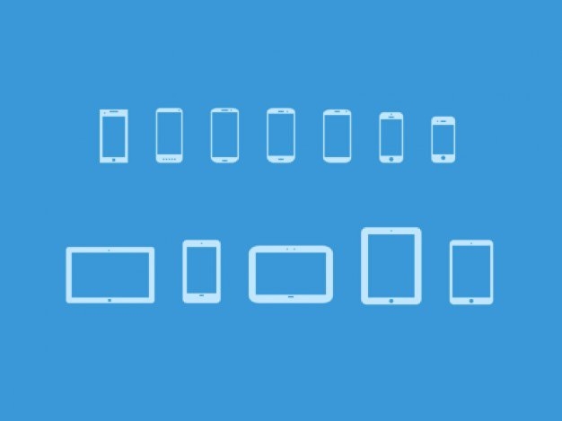 Mobile devices icons Free Psd. See more inspiration related to Icon, Mobile, Icons, Devices and Horizontal on Freepik.