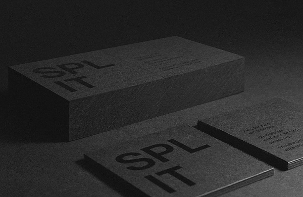 Split Identity - DAVID KERR #card #split #black #business