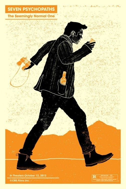 Seven Psychopaths Movie Poster #poster #film