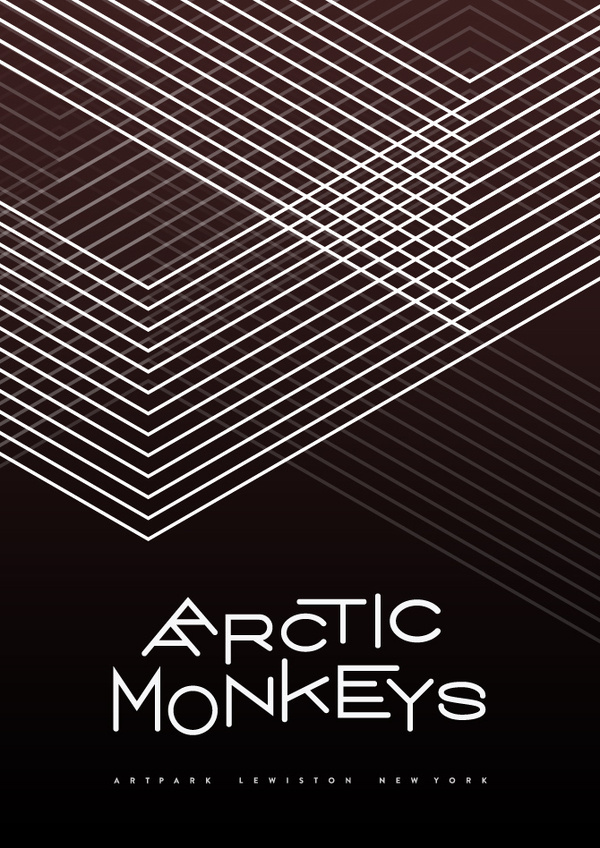 Arctic Monkeys #design #poster #symmetry