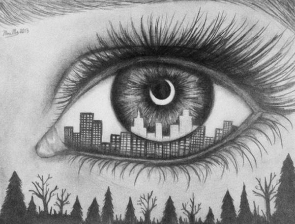 30 Expressive Drawings of Eyes #eyes #drawings