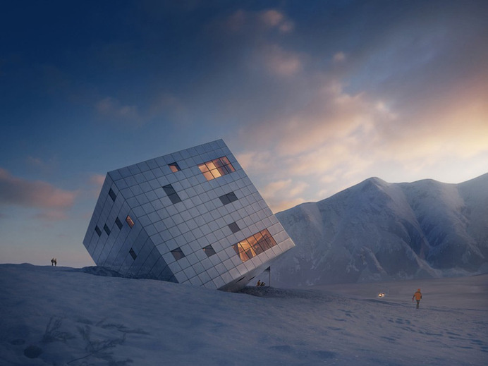 Kežmarské Hut in Slovakian Mountains #hotel #architecture #mountains