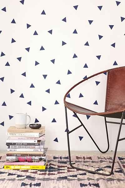 Walls Need Love Triangle Decal Set, Urban Outfitters