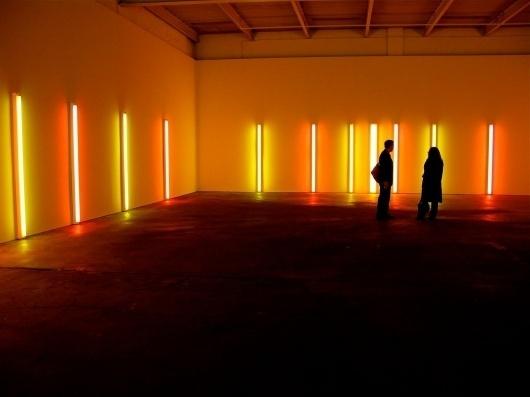 WE DARE SPEAK (A MOMENT ONLY): DAN FLAVIN #sculpture #fluorescent #lights #colour #light #flavin