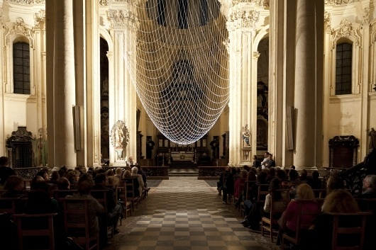 THE UPSIDE DOME by Gijs Van Vaerenbergh #vaerenbergh #installation #church #van #leuven #belgium #gijs #art #dome