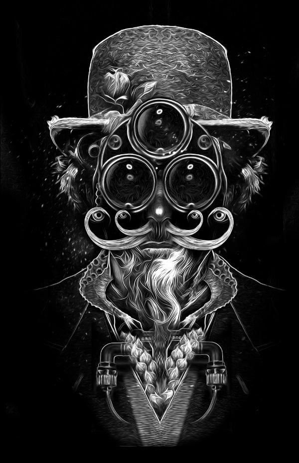 FANTASMAGORIK® COSMIK FACES on the Behance Network #illustration