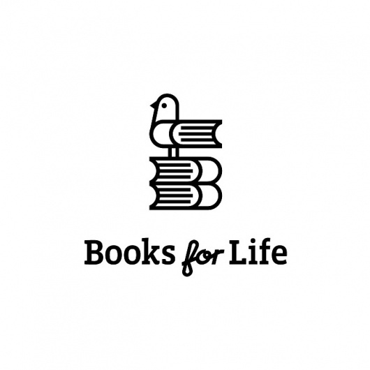 Books for Life Logo by Luke Bott #brand #logo #illustration #bird